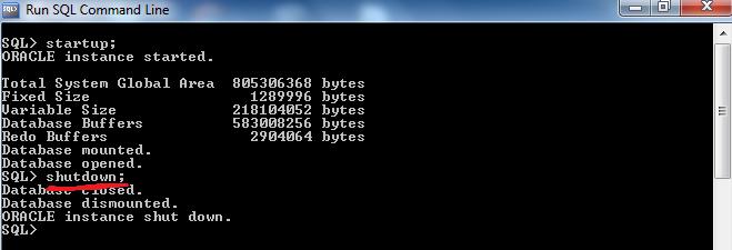 Oracle Shutdown