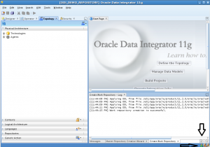 oracle data integrator import master repository work repository
