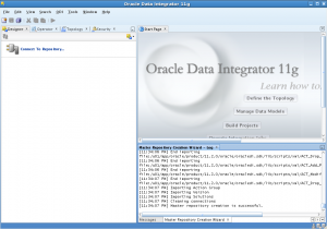 oracle data integrator master and work repositories